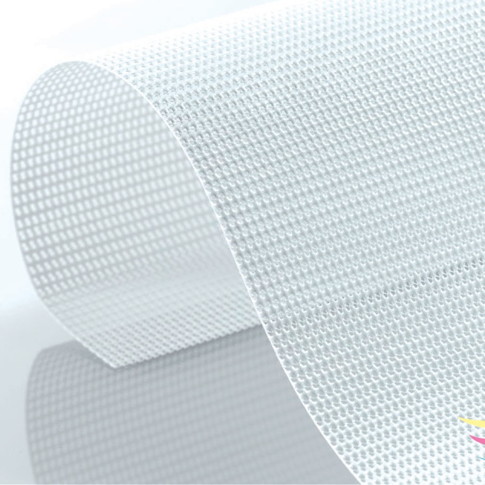 white micro-perforated shading fabric